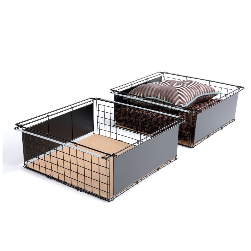 Fashion Bed Group Atlas Metal Slide-Out Drawer for Bed Base Support System - 2-Pack