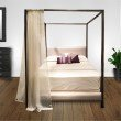 Fashion Bed Group Avalon Canopy Platform Bed with Platinum Upholstered Headboard and 80-Inch Bed Posts - Slate Finish - King