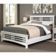 Fashion Bed Group Avery Complete Bed with Wood Frame and Mission Style Design - Cottage White Finish - California King