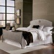 Fashion Bed Group Barrington Complete Bed with Metal Panels and Industrial Circular Design - Silver Bisque Finish - Queen