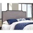 Fashion Bed Group Bayview Metal Headboard with Gray Dove Upholstery - Black Pearl Finish - Twin