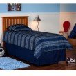 Fashion Bed Group Belmont Wooden Headboard Panel with Slatted Grill Design - Maple Finish - Full/Queen