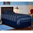 Fashion Bed Group Belmont Wooden Headboard Panel with Slatted Grill Design - Merlot Finish - Full/Queen