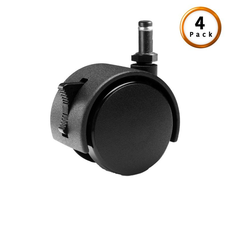 Fashion Bed Group Black Push-In Locking Rug Roller Caster Legs - 4-Pack