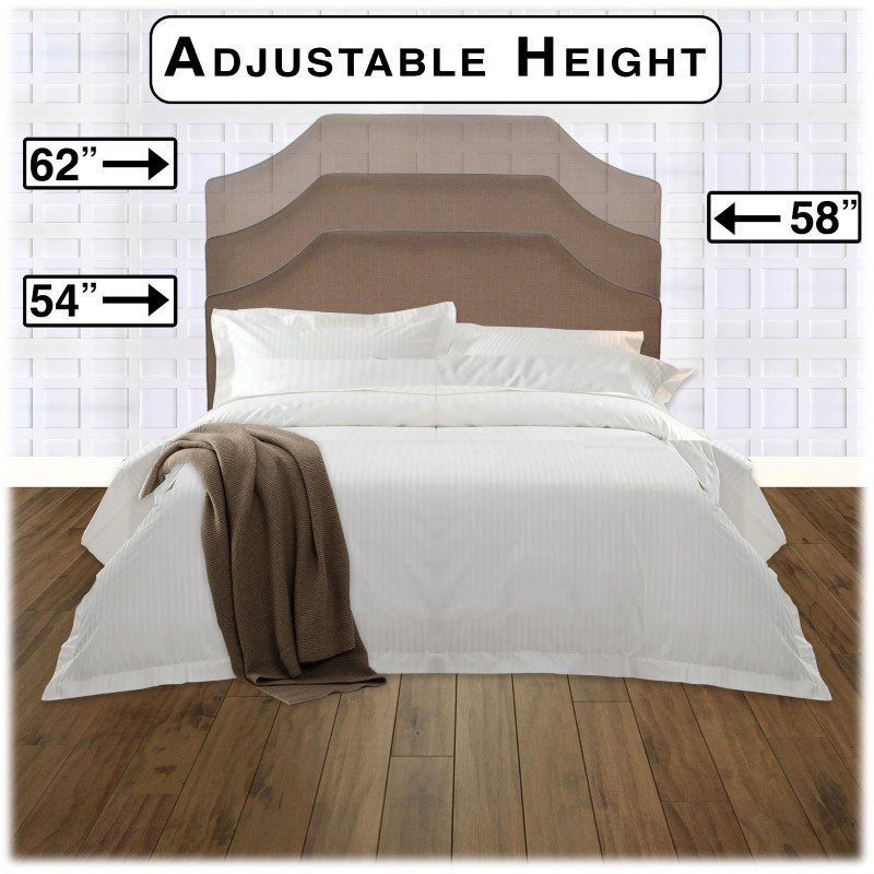 Fashion Bed Group Bordeaux Complete Bed with Upholstered Headboard and Q45G Steel Support Frame - Dolphin Finish - Full/Queen