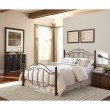Fashion Bed Group Cassidy Complete Bed with Metal Duo Panels and Dark Walnut Wood Posts - Mink Finish - Full