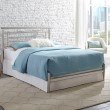 Fashion Bed Group Chatham Complete Bed with Rounded Metal Headboard Rail and Swaged Legs - Satin Finish - King