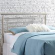 Fashion Bed Group Chatham Metal Headboard with Rounded Top Rail - Satin Finish - King