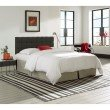 Fashion Bed Group Covington Upholstered Headboard Panel with Solid Wood Adjustable Frame and Button-Tufted Design - Grande Carbon Gray Finish - King/California King