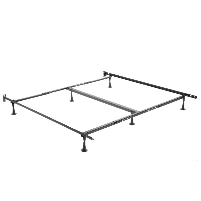 Fashion Bed Group Deluxe Promotional K52G with Fixed Headboard Brackets and (6) Hercules Glides - Queen/California King