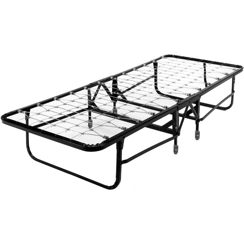 """Fashion Bed Group Deluxe Rollaway 1220 Folding Link Spring Cot with 30"""" Foam Mattress and Angle Steel Frame - 29"""" x 75"""""""