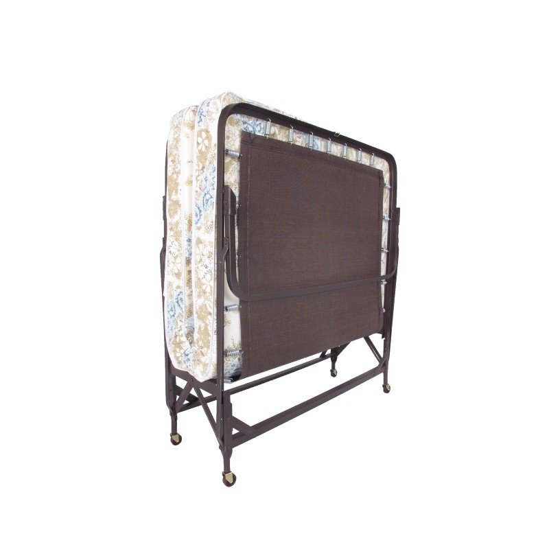 """Fashion Bed Group Deluxe Rollaway 1221P Folding Poly Deck Bed with 39"""" Foam Mattress and Angle Steel Frame - 38"""" x 75"""""""