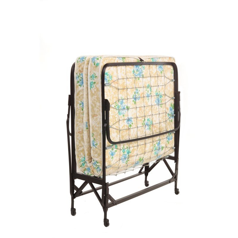 """Fashion Bed Group Deluxe Rollaway 1222 Folding Link Spring Bed with 48"""" Foam Mattress and Angle Steel Frame - 47"""" x 75"""""""