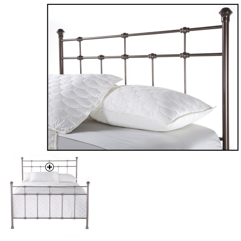 Fashion Bed Group Dexter Complete Bed with Decorative Metal Castings and Globe Finials - Hammered Brown - Full