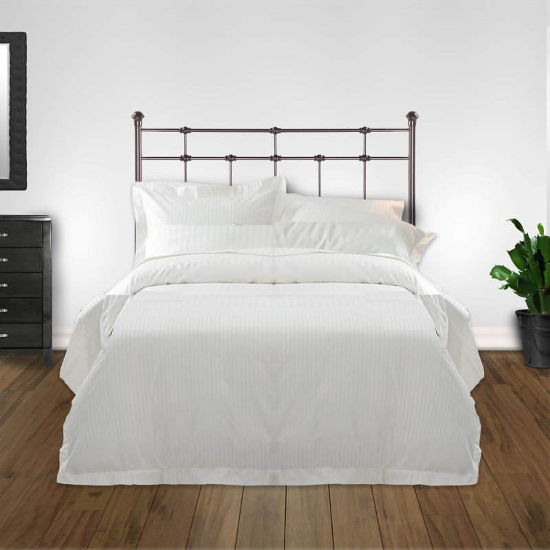 Fashion Bed Group Dexter Metal Headboard with Decorative Castings and Globe Finials - Hammered Brown - Twin