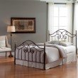 Fashion Bed Group Dynasty Complete Bed with Arched Metal Panels and Scalloped Finial Posts - Autumn Brown Finish - Full