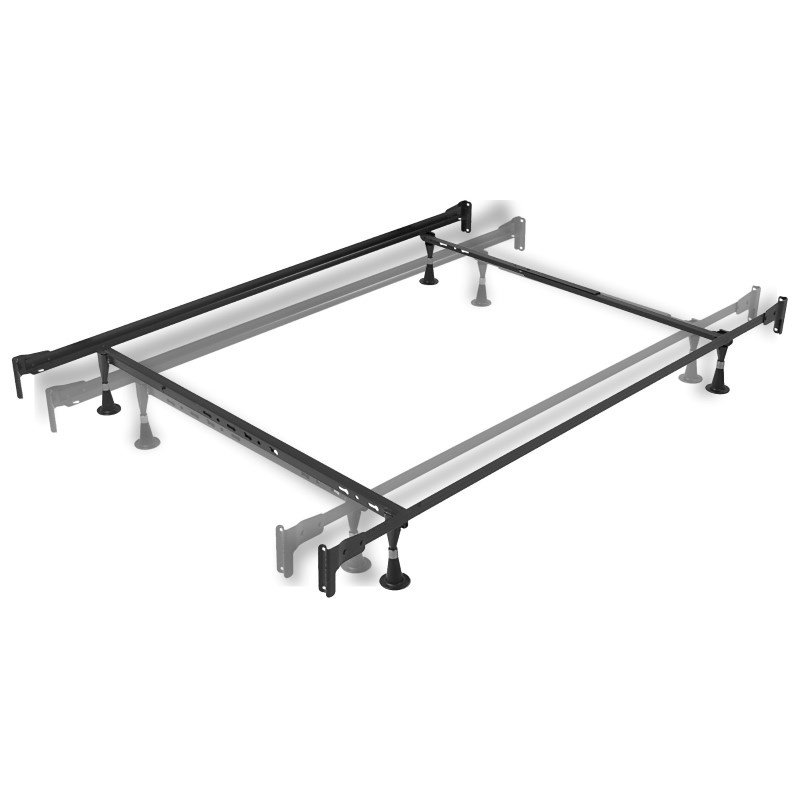 Fashion Bed Group Engineered Adjustable 834 Bed Frame with Fixed Head & Food Panel Brackets and (4) Glide Legs - Twin/Full