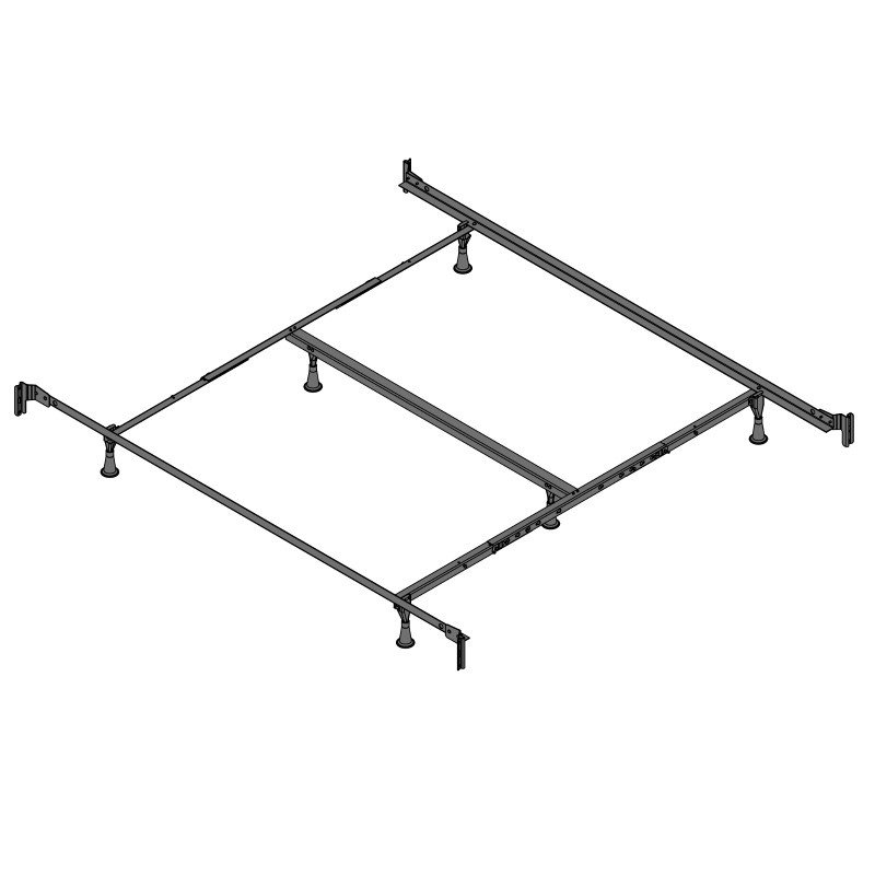 Fashion Bed Group Engineered PL860/RB Bed Frame with Reversed Fixed Head & Food Panel Brackets and (6) Glide Legs - California King
