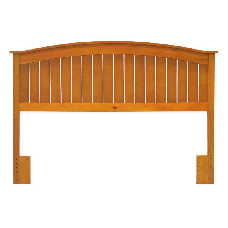 Fashion Bed Group Finley Wooden Headboard Panel with Curved Top Rail Design - Maple Finish - Full/Queen