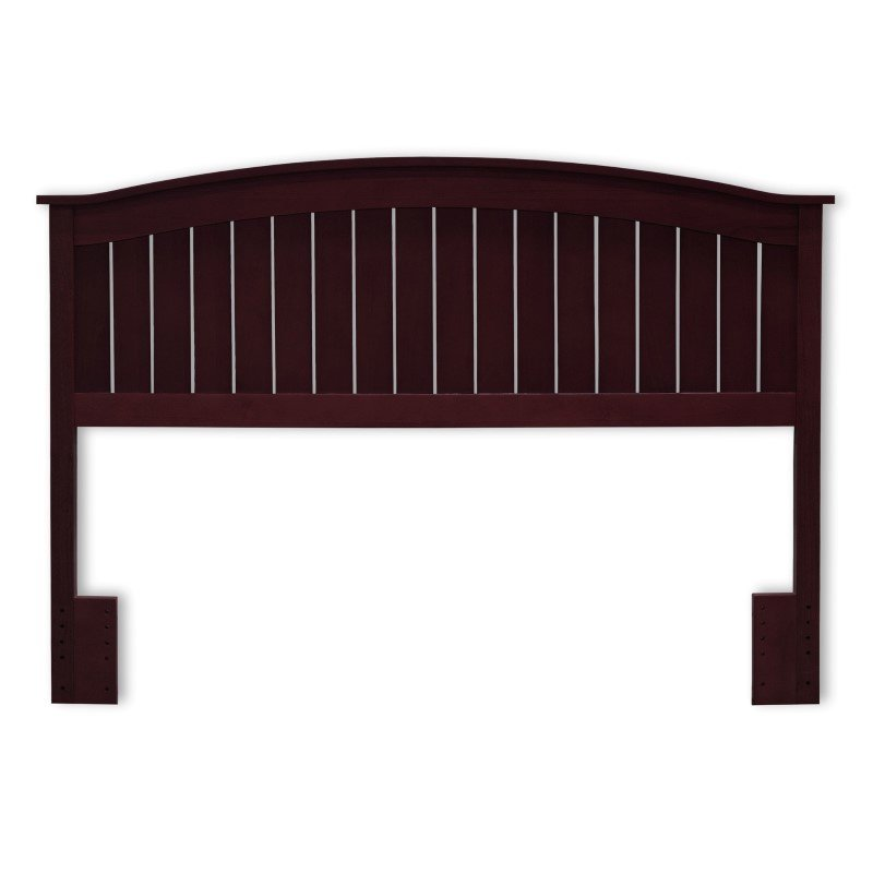 Fashion Bed Group Finley Wooden Headboard Panel with Curved Top Rail Design - Merlot Finish - Full/Queen