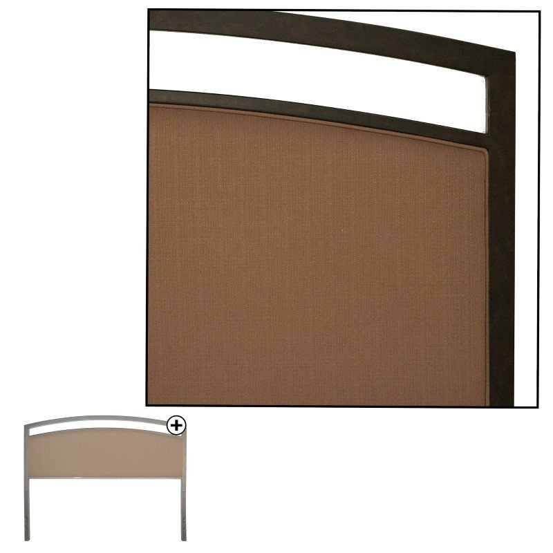 Fashion Bed Group Gibson Metal Headboard Panel with Brown Sugar Upholstery - Brown Sparkle Finish - California King