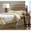 Fashion Bed Group Gibson Metal Headboard Panel with Brown Sugar Upholstery - Brown Sparkle Finish - Queen