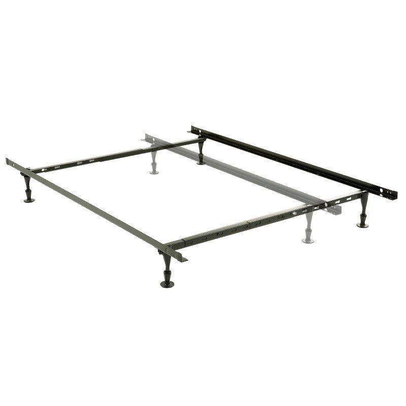 Fashion Bed Group Harvard Adjustable NH50G Heavy Duty Bed Frame with Keyhole Cross Arms and (4) 2-Piece Glide Legs - Twin/Queen