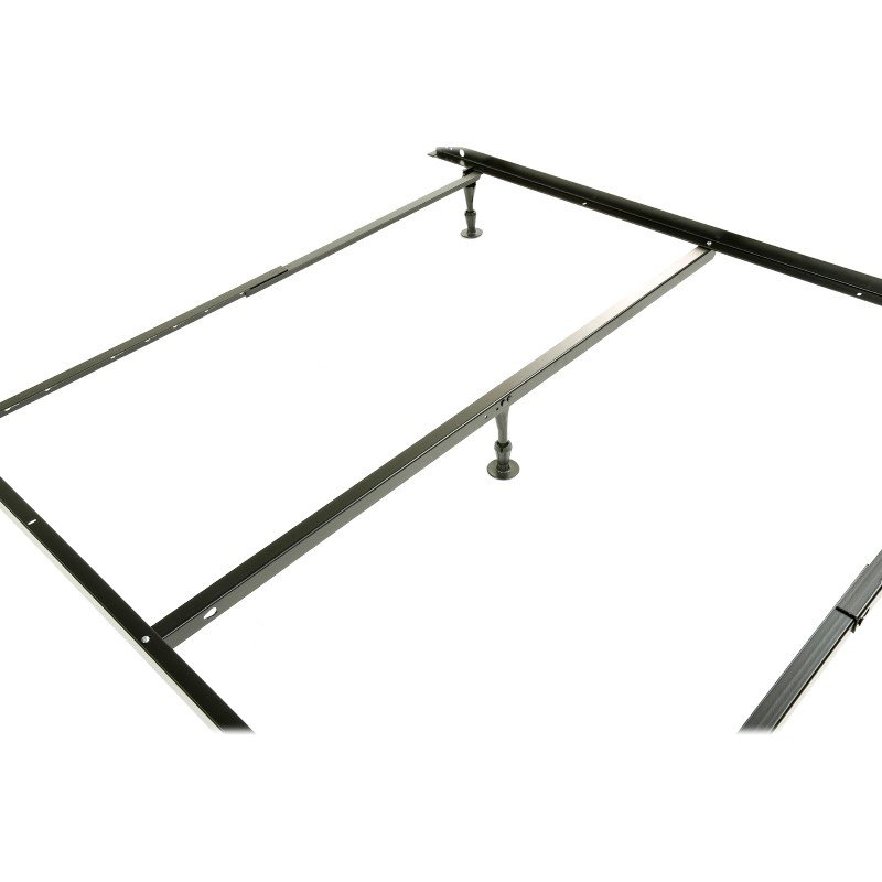 Fashion Bed Group Harvard Adjustable NH50GC4 Heavy Duty Bed Frame with Keyhole Cross Arms and (5) 2-Piece Glide Legs - Twin/Queen