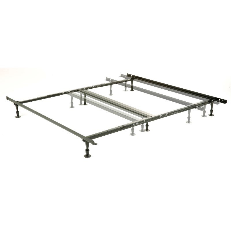 Fashion Bed Group Harvard Adjustable NH850G Heavy Duty Bed Frame with Keyhole Cross Arms and (6) 2-Piece Glide Legs - Queen/Cal King/King