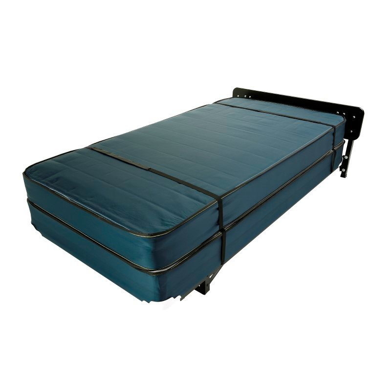 """Fashion Bed Group Hospitality 998 Stow-Away Bed System with 39"""" Anti-Bacterial Ticking Innerspring Mattress and 3"""" Swivel Casters - Twin"""