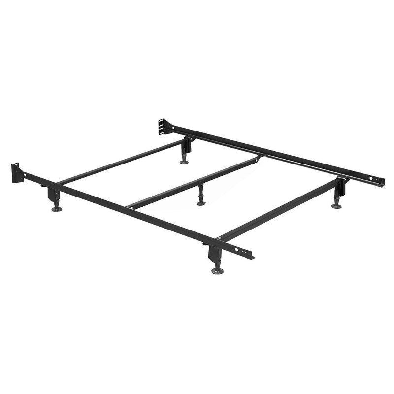 Fashion Bed Group Inst-A-Matic Hospitality H753GC4 Bed Frame with Fixed Headboard Brackets and (5) 2-Piece Glide Legs - Full