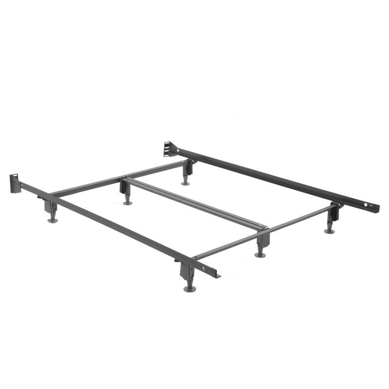 Fashion Bed Group Inst-A-Matic Hospitality H753GHFC Bed Frame with Fixed Headboard Brackets and (6) 2-Piece Glide Legs - Full