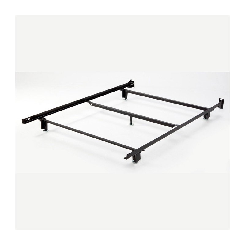 Fashion Bed Group Inst-A-Matic Hospitality H753LGC4 Low Profile Bed Frame with Fixed Headboard Brackets and (5) 2-Piece Glide Legs - Full XL