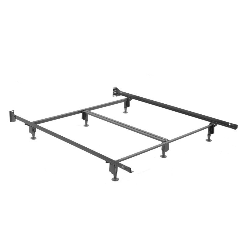 Fashion Bed Group Inst-A-Matic Hospitality H761G Bed Frame with Fixed Headboard Brackets and (6) 2-Piece Glide Legs - Queen