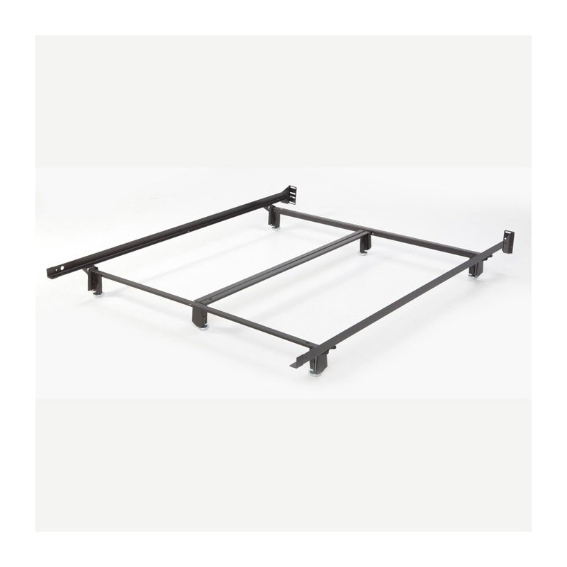 Fashion Bed Group Inst-A-Matic Hospitality H761LG Low Profile Bed Frame with Fixed Headboard Brackets and (6) 2-Piece Glide Legs - Queen