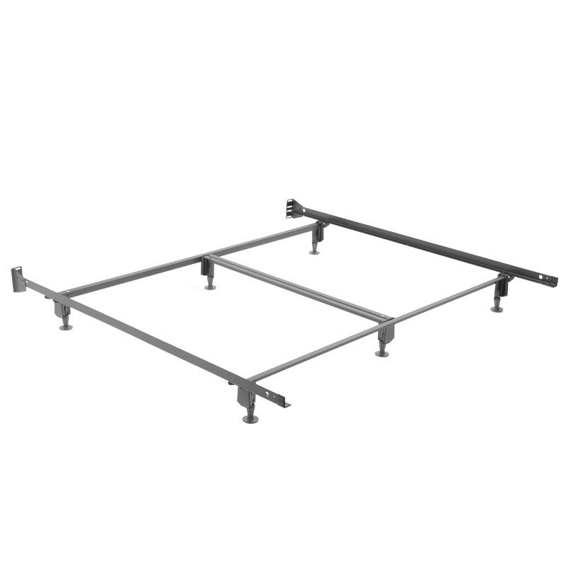 Fashion Bed Group Inst-A-Matic Hospitality H777G Bed Frame with Fixed Headboard Brackets and (6) 2-Piece Glide Legs - King
