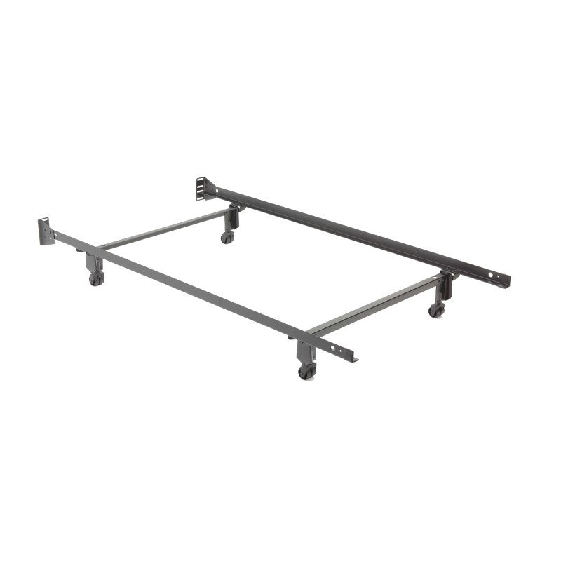 Fashion Bed Group Inst-A-Matic Premium 738R Bed Frame with Headboard Brackets and (4) 2-Inch Locking Rug Roller Legs - Twin