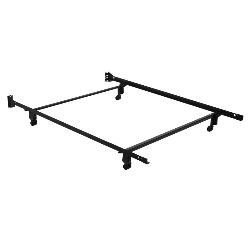 Fashion Bed Group Inst-A-Matic Premium 753R Bed Frame with Headboard Brackets and (4) 2-Inch Locking Rug Roller Legs - Full