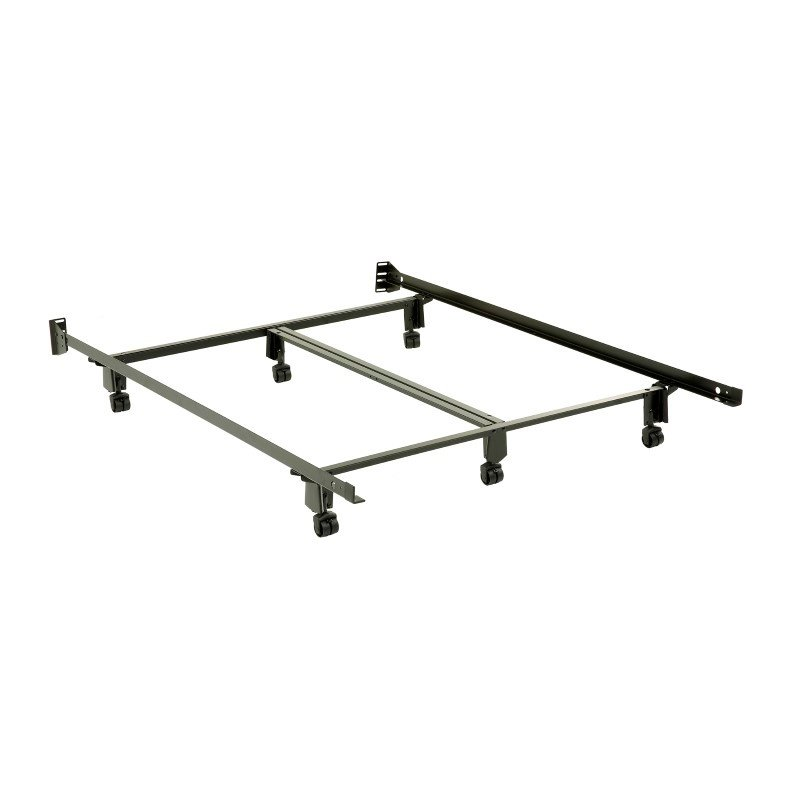 Fashion Bed Group Inst-A-Matic Premium 761R Bed Frame with Headboard Brackets and (6) 2-Inch Locking Rug Roller Legs - Queen