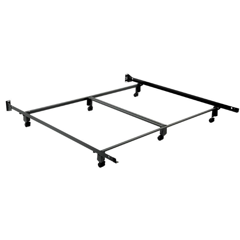 Fashion Bed Group Inst-A-Matic Premium 774R Bed Frame with Headboard Brackets and (6) 2-Inch Locking Rug Roller Legs - California King