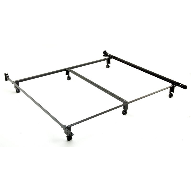 Fashion Bed Group Inst-A-Matic Premium 777R Bed Frame with Headboard Brackets and (6) 2-Inch Locking Rug Roller Legs - King