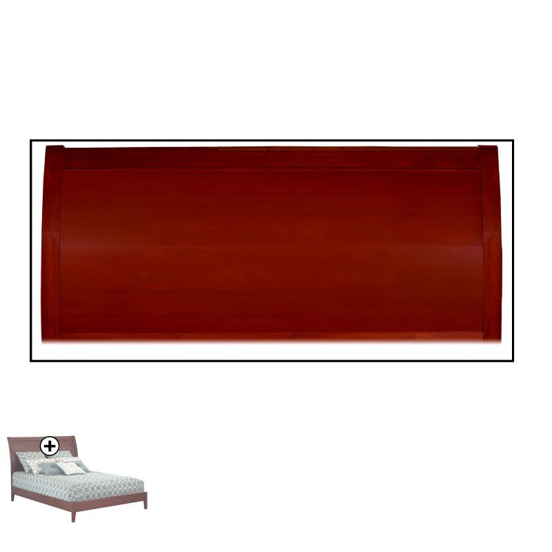 Fashion Bed Group Java Platform Bed with Wood Frame and Sleigh Headboard - Mahogany Finish - King