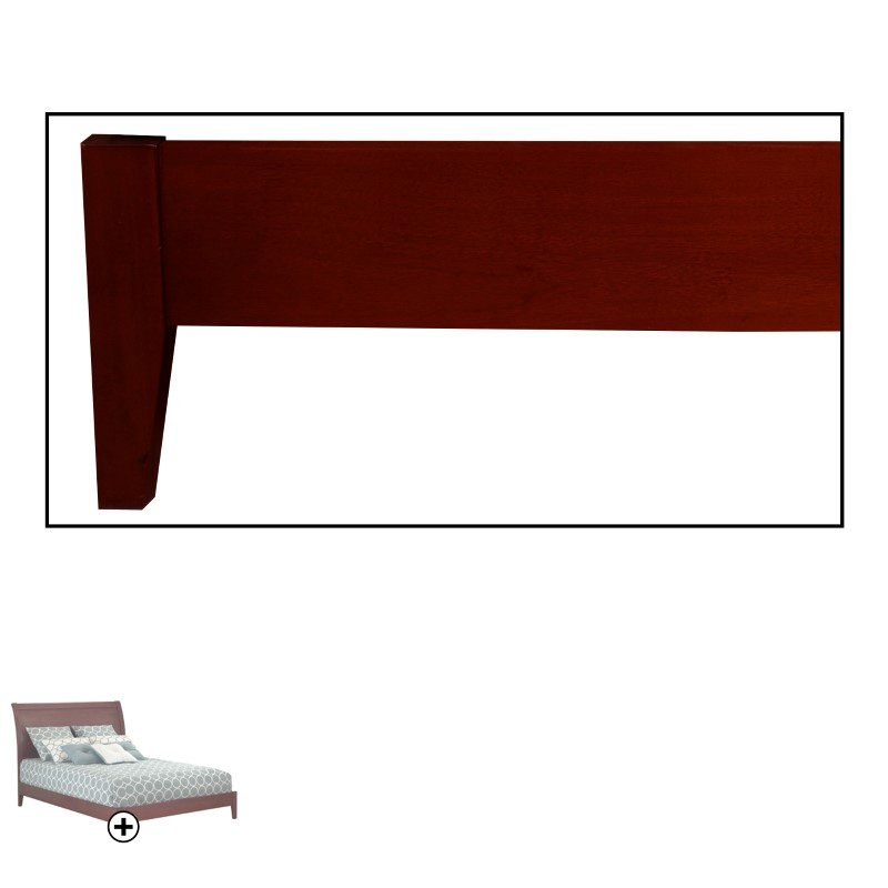 Fashion Bed Group Java Platform Bed with Wood Frame and Sleigh Headboard - Mahogany Finish - Queen