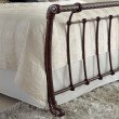 Fashion Bed Group Legion Complete Bed with Metal Sleigh Panels and Twisted Rope Top Rails - Ancient Gold Finish - California King