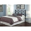 Fashion Bed Group Marlo Metal Headboard Panel with Squared Finial Posts - Burnished Black Finish - California King