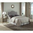 Fashion Bed Group Martinique Upholstered Adjustable Headboard Panel with Solid Wood Frame and Button-Tufted Design - Putty Finish - King/California King