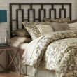 Fashion Bed Group Miami Metal Headboard with Squared Tubing and Geometric Design - Coffee Finish - Full