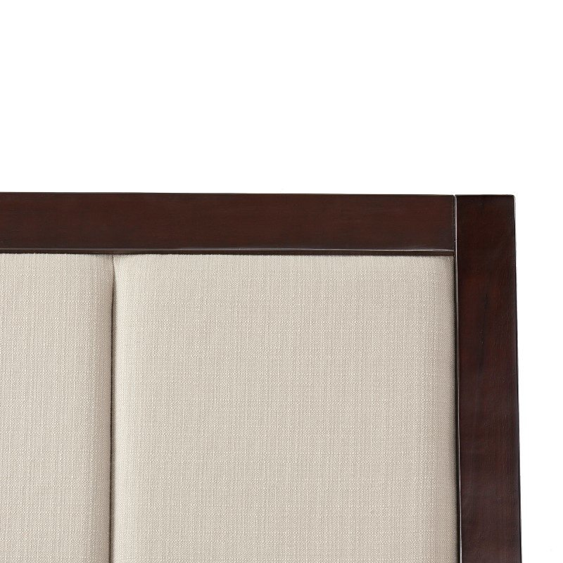 Fashion Bed Group Monterey Headboard with Wood Frame and Mouse Upholstery - Espresso Finish - King