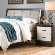 Fashion Bed Group Monterey Headboard with Wood Frame and Mouse Upholstery - Espresso Finish - Queen