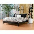 Fashion Bed Group Murray Platform Bed with Wooden Box Frame - Black Finish - Full